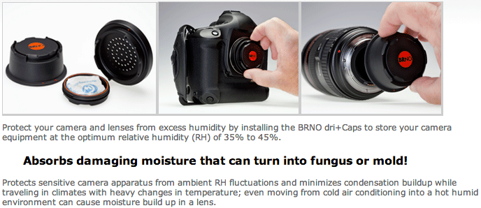 Review: BRNO dri+Cap Kit Dehumidifying Caps for Canon & Nikon Bodies and Lenses