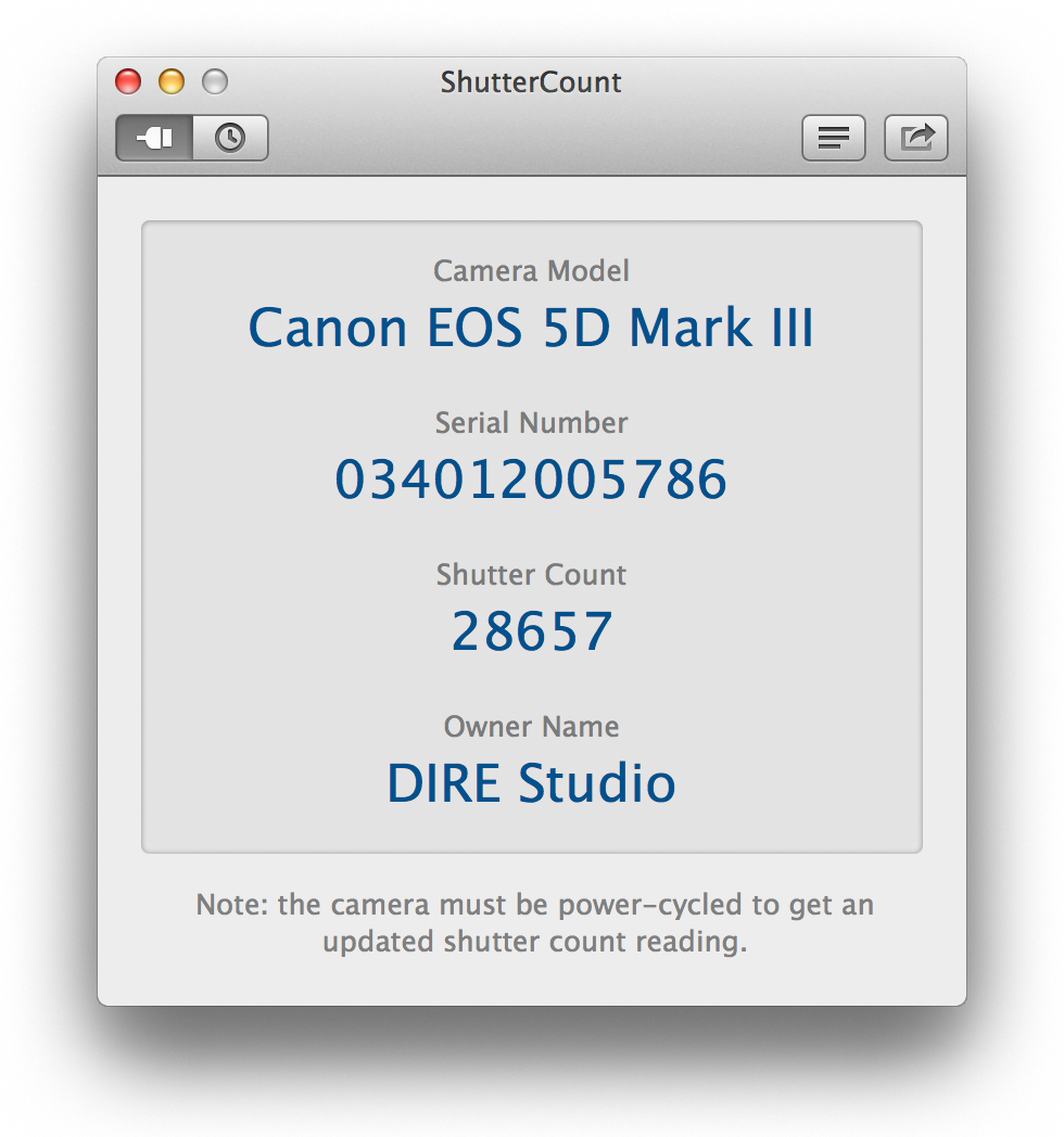 where is serial number on canon camera