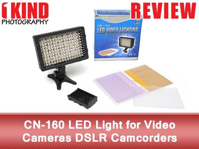CN-160 LED Light for Video Cameras DSLR Camcorders