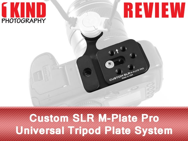 Custom SLR M-Plate Pro Universal Tripod Plate System with Hand Strap Attachment