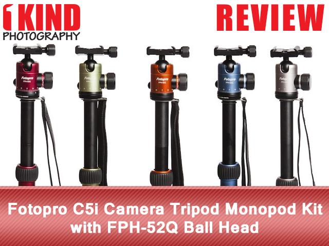 Fotopro C5i Camera Tripod Monopod Kit with FPH-52Q Ball Head