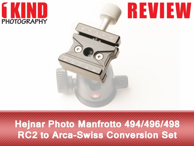Hejnar Photo Manfrotto 494/496/498 RC2 to Arca-Swiss Conversion Set