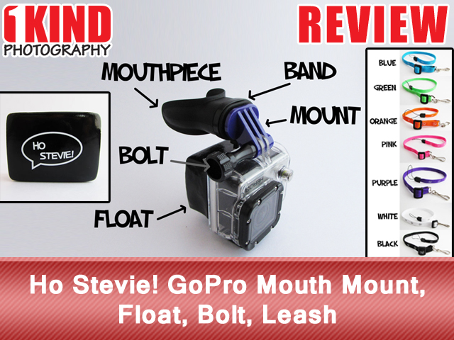 Ho Stevie! GoPro Mouth Mount, Float, Bolt, Leash