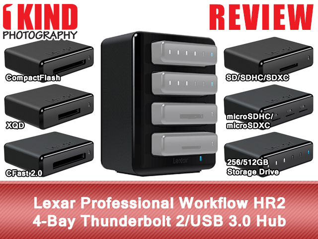 Lexar Professional Workflow HR2 4-Bay Thunderbolt 2/USB 3.0 Hub
