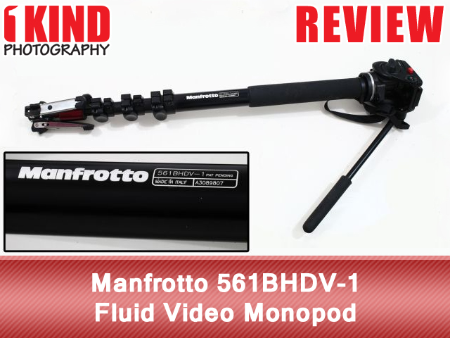 Manfrotto 561BHDV-1 Fluid Video Monopod