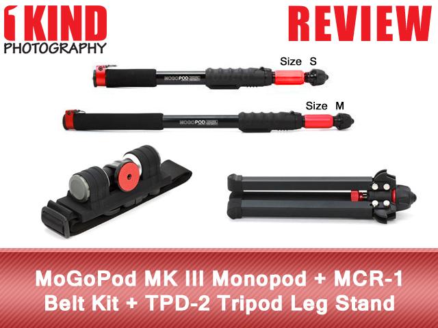 MoGoPod MK III Monopod + MCR-1 Belt Kit + TPD-2 Tripod Leg Stand