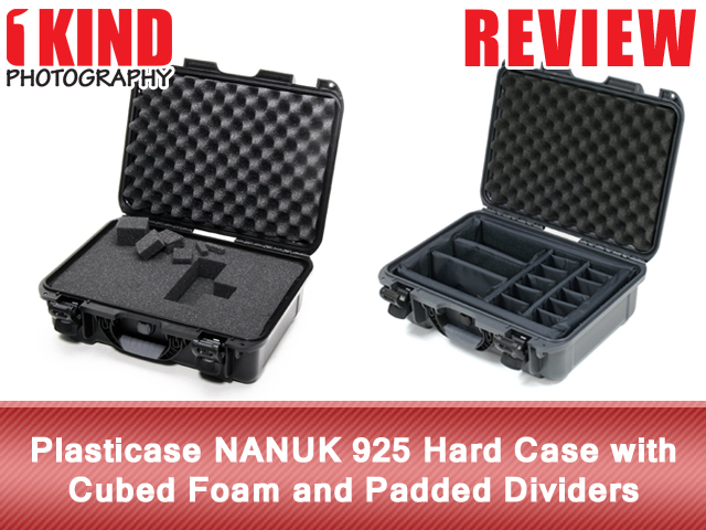 Plasticase NANUK 925 Hard Case with Cubed Foam and Padded Dividers