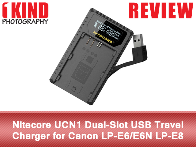 Nitecore UCN1 Dual-Slot USB Travel Charger for Canon LP-E6/E6N LP-E8