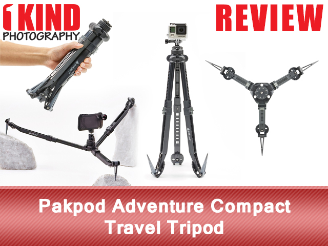 Pakpod Adventure Compact Travel Tripod