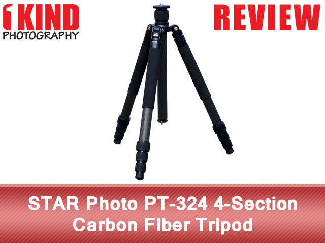 STAR PT-324 4-Section Carbon Fiber Tripod