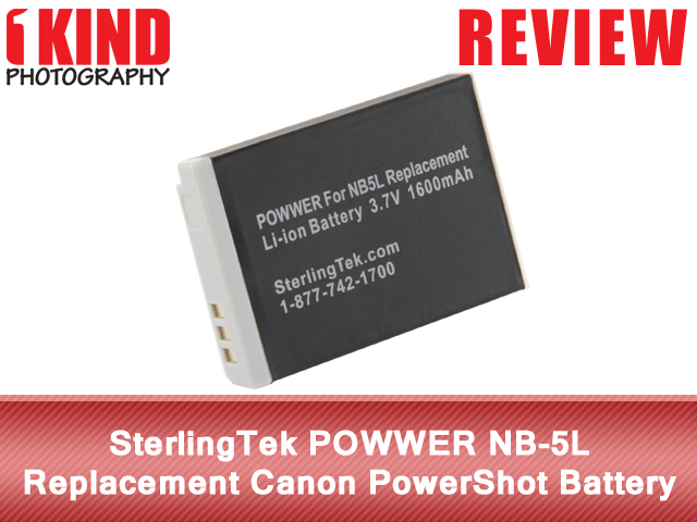 SterlingTek POWWER NB-5L Replacement Canon PowerShot Battery