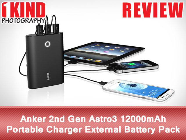 Anker 2nd Gen Astro3 12000mAh Portable Charger Backup External Battery Pack
