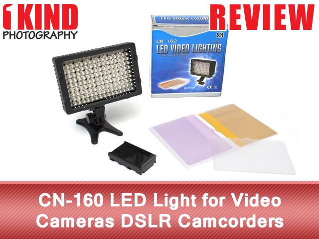 CN-160 LED Light for Video Cameras DSLR Camcorders