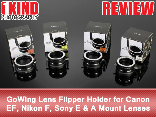 GoWing Lens Flipper Holder for Canon EF, Nikon F, Sony E and A Mount Lenses