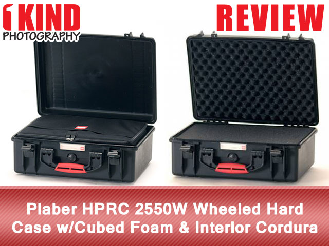 Plaber HPRC 2550W Wheeled Hard Case with Cubed Foam and Interior Cordura Bag