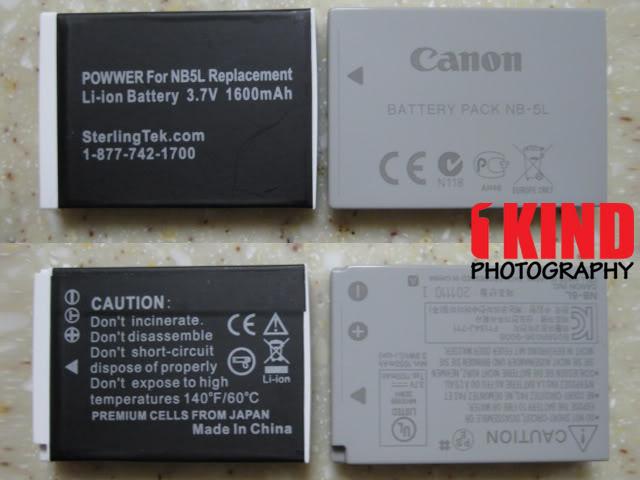 Review: SterlingTek POWWER NB-5L Replacement Canon PowerShot Battery