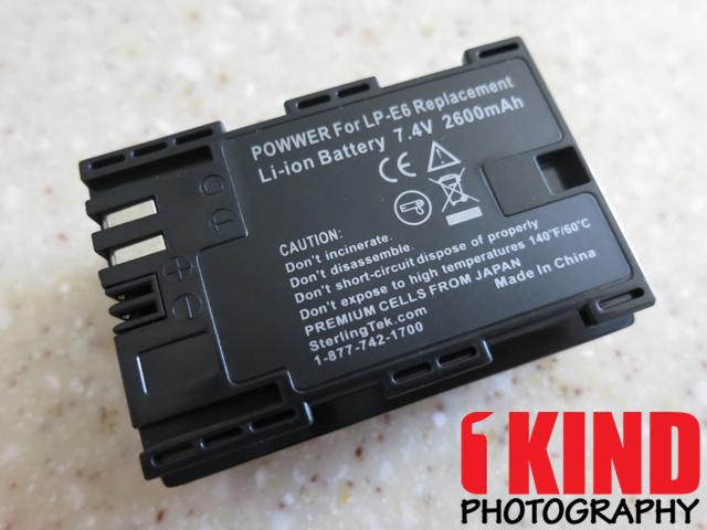Review: SterlingTek POWWER LP-E6 Replacement Canon EOS 5D 7D 60D Battery