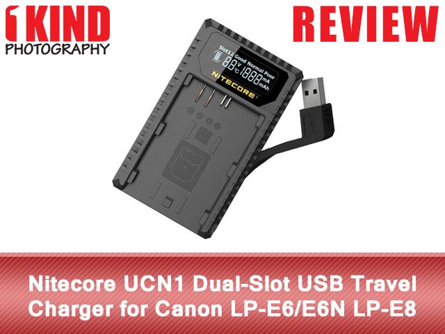 Nitecore UCN1 Dual-Slot USB Travel Charger for Canon LP-E6/E6N LP-E8