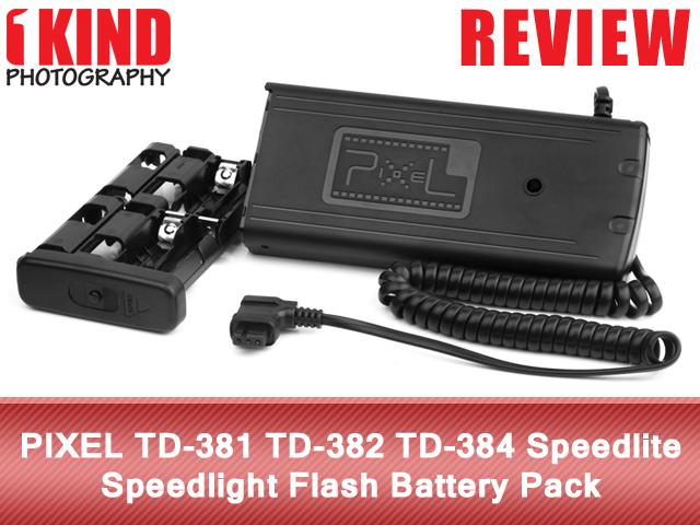 PIXEL TD-381 TD-382 TD-384 Speedlite Speedlight Flash Battery Pack
