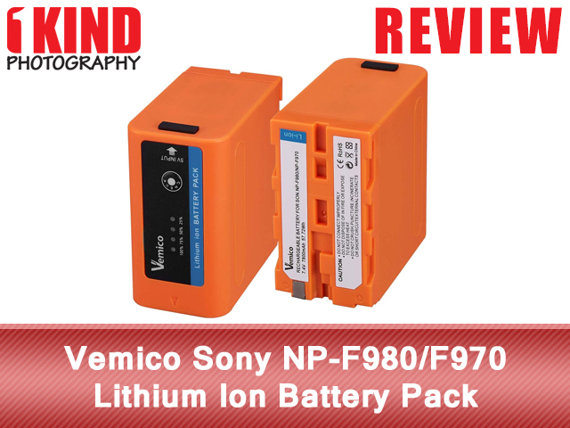 Vemico Sony NP-F980/F970 Lithium Ion Battery Pack